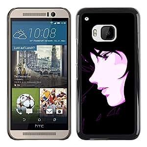 Shell-Star Arte & diseño plástico duro Fundas Cover Cubre Hard Case Cover para HTC One M9 ( Cute Anime Girl )