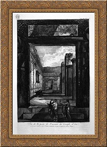 (Trajan`s Column 20x24 Gold Ornate Wood Framed Canvas Art by Piranesi, Giovanni Battista)