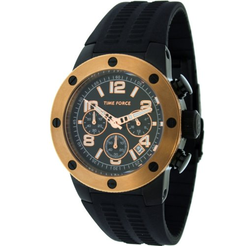 Time Force TF4004 M15 - Reloj de pulsera, correa de caucho color negro: Amazon.es: Relojes