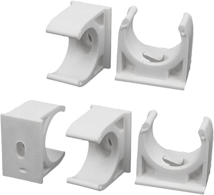 10 Piece 25 mm Uxcell PPR Water Supply Pipe Clamps Clips Fittings