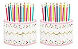 Birthday Cake Napkins (2 Sets of 20) - Fun Multi Color Confetti Polkadot Print