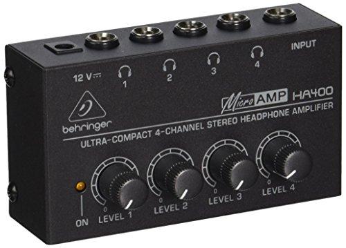 Behringer Microamp HA400 Amplificador ultracompacto de auriculares estéreo de 4 canales