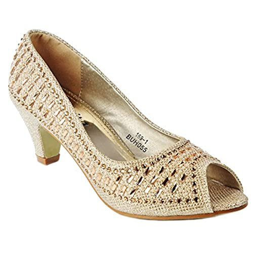 Gold Kitten Heel: Amazon.com
