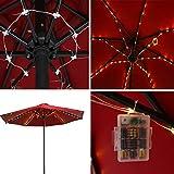 Patio LED Umbrella String Lights, 8 Lighting Mode