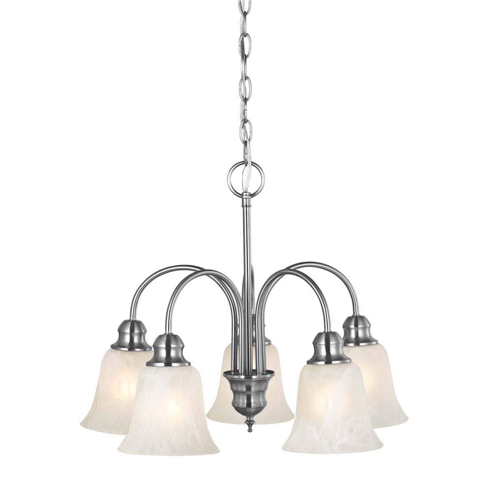 Design House 519405 Ridgeway 5 Light Chandelier, Satin Nickel