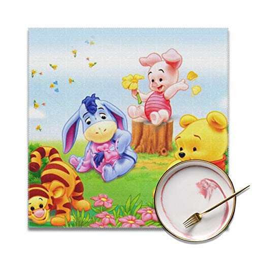 (LIUYAN Placemats Set of 4 - Baby Winnie The Pooh Place Mats for Kitchen Dining Table Decoration)