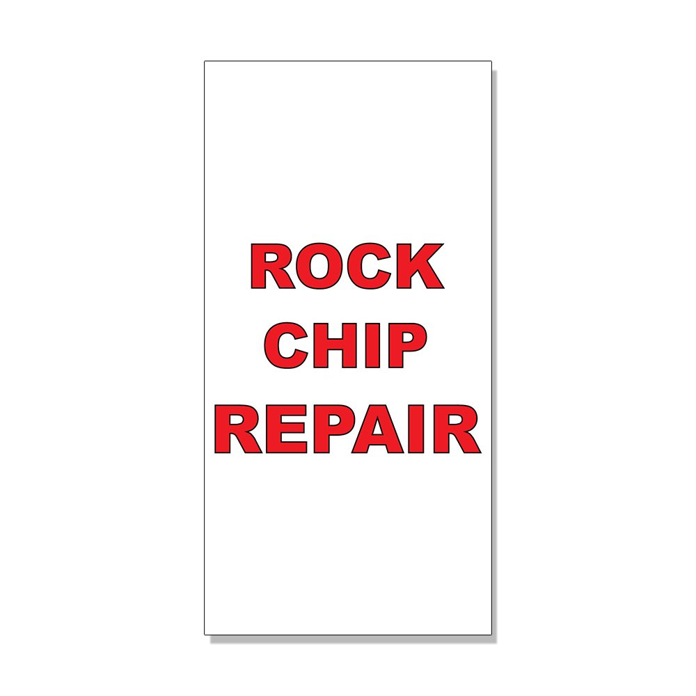 Rock Chip Repair Red Auto Car Repair Shop DECAL STICKER Retail Store Sign - 9.5 x 24 inches Fastasticdeals