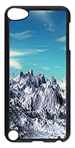 iPod Touch 5 Cases & Covers -Mountains In Snow Custom PC Hard Case Cover for iPod Touch 5 ¨CTransparent