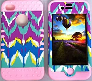 good case Cellphone Trendz Hybrid High Impact Bumper case cover Tie-Dye Aztec Tribal / Light Pink tMWE27 6 4.7ICv Silicone for Apple iPhone 6 4.7 iPhone 6 4.7