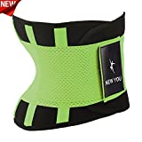 New You Waist Trainer Belt - Body Shaper Belt For An Hourglass Shaper Workout Corset for Women & Men (Lemon green, Large)