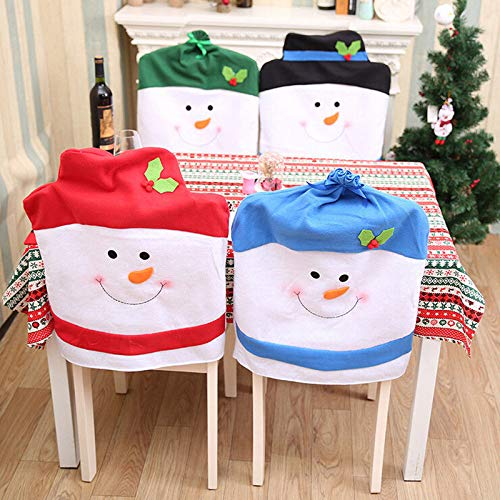 LILIERS New Christmas Chair Hats Christmas Decoration Chair Cover Kitchen Dinning Room Festival Xmas Snowman