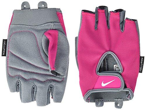 Nike Women's Fundamental Training Gloves,Large(Vivid Pink/Grey/White)
