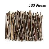 TKOnline 100Pcs 10cm 0.1-0.2 Inch in Diameter Wood Log Sticks for DIY Crafts Photo Props