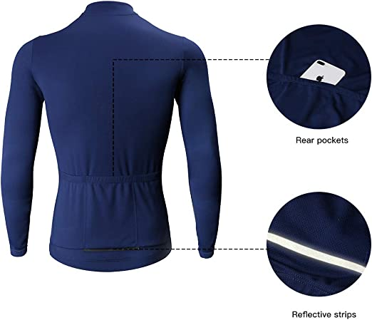Catena Mens Long Sleeve Jersey Running Sports Shirts Loose-Fit MTB Cycling Top Downhill Mountain Bike Shirt