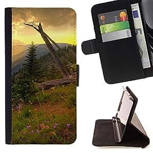 Momo Phone Case / Flip Funda de Cuero Case Cover - Americana Montaña Forrest;;;;;;;; - Samsung Galaxy S4 IV I9500