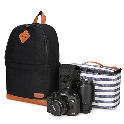 Kattee Professional Canvas SLR DSLR Camera Backpack Laptop B