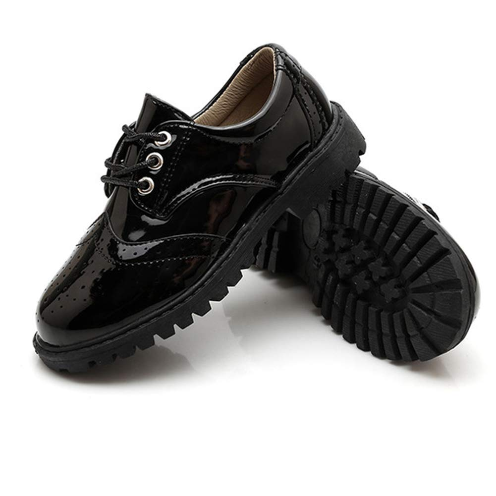 Richea Boys Girls Oxford Leather Lace Up Dress Shoes Toddler//Little Kid//Big Kid