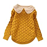 LOSORN ZPY Toddler Baby Girl Cable Knit Sweater Lovely Kid Pullover Sweatshirt Yellow 12