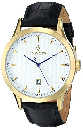 Invicta Men's 12223 Vintage Analog Display Swiss Quartz Black Watch