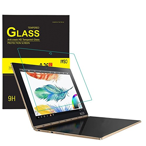 IVSO Lenovo Yoga Book Cristal Templado Protector, Premium Protector de Pantalla de Vidrio Templado para Lenovo Yoga Book...