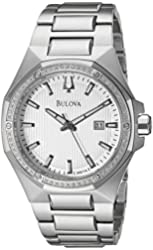 Bulova Men's 96E114 Analog Display Japanese Quartz Silver Watch