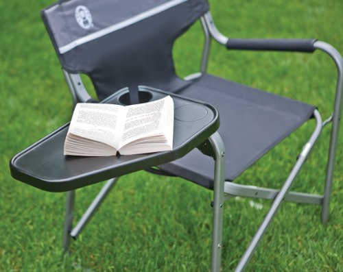 Coleman Portable Deck Chair With Swivel Table Camping