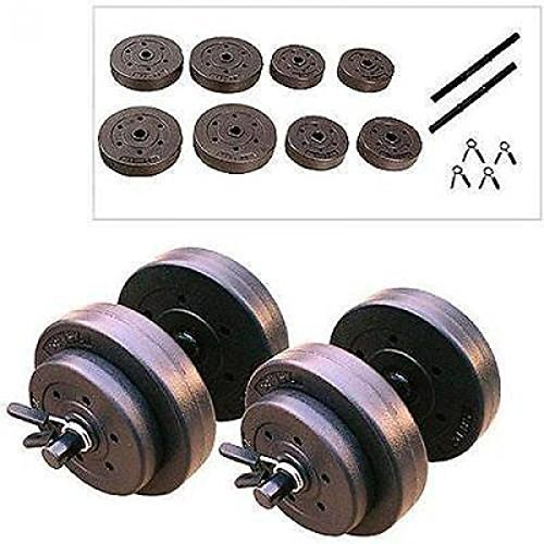 NEW Golds Gym 40 Lb Vinyl Dumbbell Set Weight Adjustable Hand Weights Dumbbells by TrustyTrade