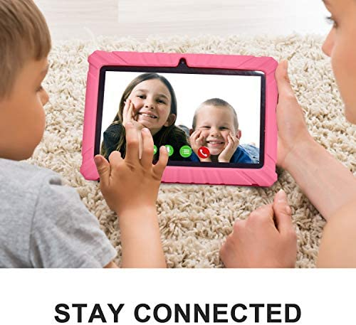 Contixo V8-2 7 Inch Kids Tablets - Tablet For Kids With Parental Control - Android Tablet 16 GB HD Display Durable Case & Screen Protector WiFi Camera-Learning Toys For 2 To 10 Years Old, Pink