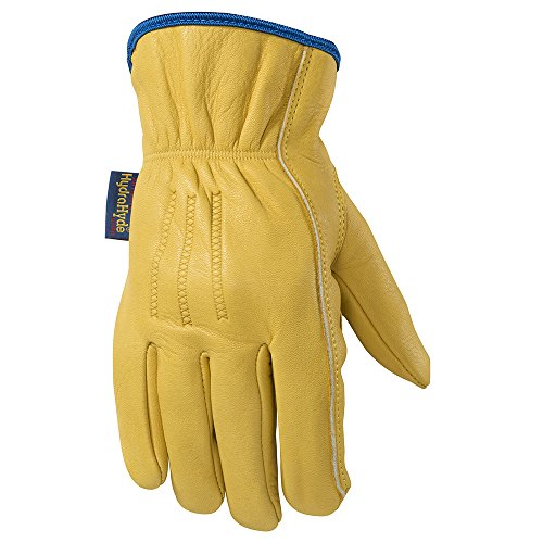 Slip-On HydraHyde Leather Work Gloves, Water-Resistant, Large (Wells Lamont 1168L)