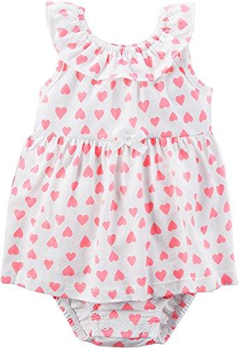 Carter's Baby Girls' Heart Sunsuit- 6 Months