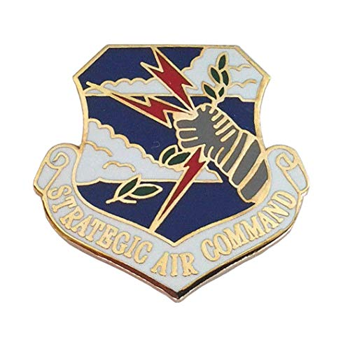 (Strategic AIR Command SAC Military Veteran US AIR Force Hat Pin 15142 HO)