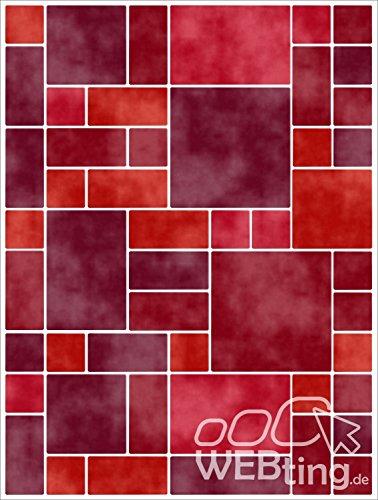 Finta mosaico rosso adesivi per piastrelle quadro adesivo per ...