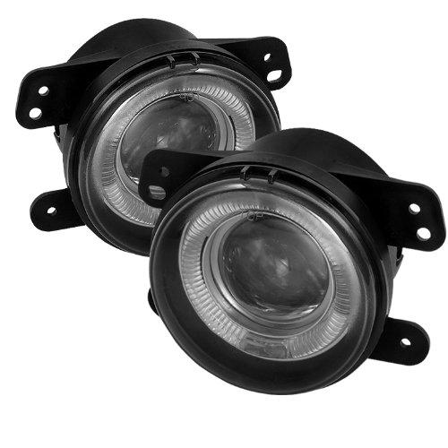 Carpart4u Dodge Magnum / Journey / Chrysler 300 ( 5.7L W/ Touring ) / PT Cruiser / Jeep Wrangler Projector Smoke Fog Lights & LED Day Time Running Light Package