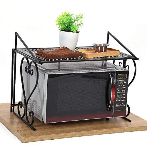 GOTOTOP Supporto Forno a microonde mensola portaoggetti a 2 Piani Supporto di immagazzinaggio Cucina Rack armadietto Scaffale Scaffali Mensola della Cucina,54.5 x 36 x 42.5cm