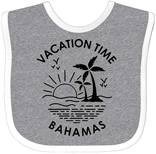 Inktastic - Vacation Time in Bahamas Baby Bib Heather/White 3018b ()