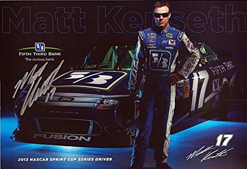 Autographed 2012 Matt Kenseth  17 Fifth Third Bank Racing  Roush  Signed 7X11 Picture Nascar Hero Card With Coa
