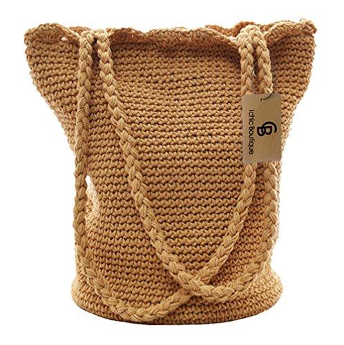 Crochet Drawstring Bag - 5