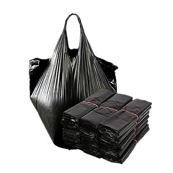 Amazon.com: Bolsa de basura negra, bolsa de plástico gruesa ...