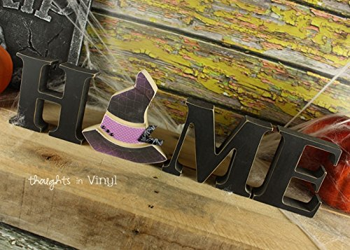 Witch Hat: DIY Unfinished Halloween Letter Decoration