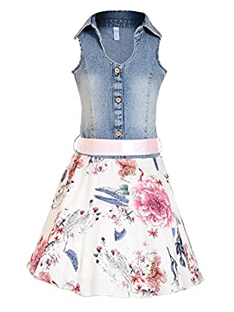 Naughty Ninos Denim Shirt Dress Girls' Dresses & Jumpsuits at amazon
