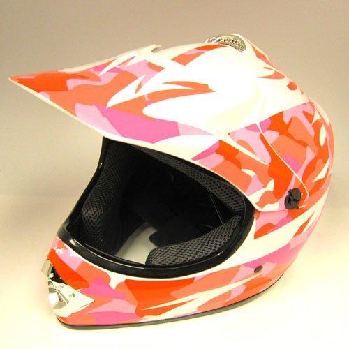 WOW Motocross Youth ATV Dirt Bike Pink Camo MX Helmet, L (54-55 CM,21.3/21.7 Inch)