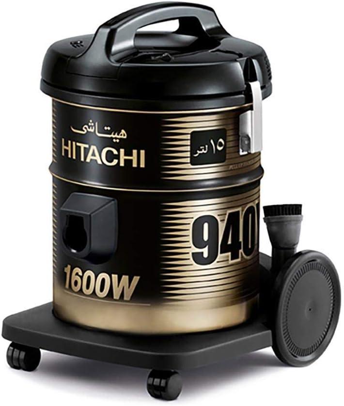 Hitachi Vacuum Cleaner 1600 Watts, 15 Liters, Black - CV-940Y SS220 BK
