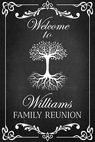 Family Tree Reunion Party Sign, Welcome Sign, Chalkboard