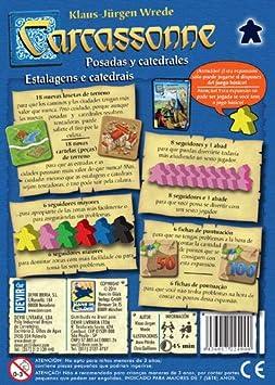 Devir- Carcassonne: Posadas y catedrales (BGCARPO): Amazon.es: Juguetes y juegos