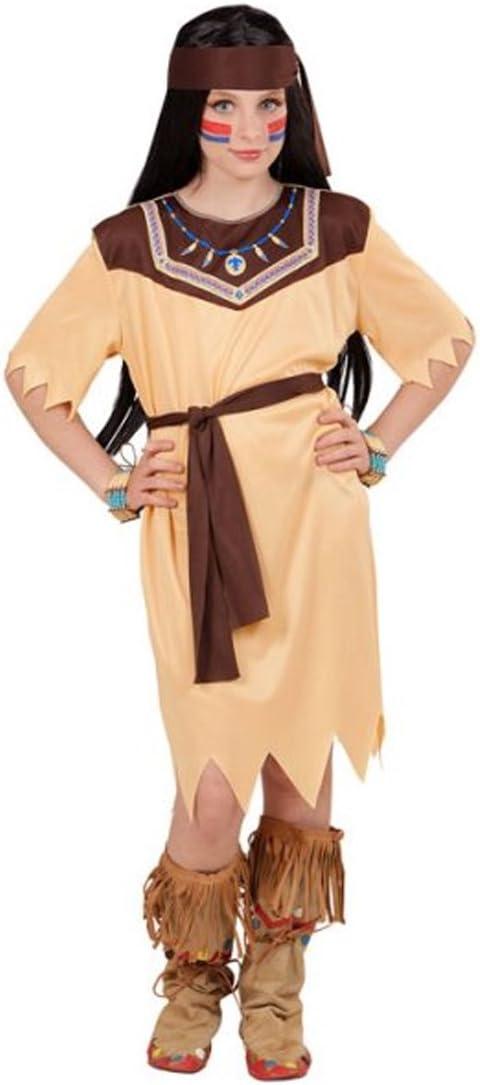Amakando Disfraz para Niñas Squaw - 111 - 116 cm, 4 - 5 años ...