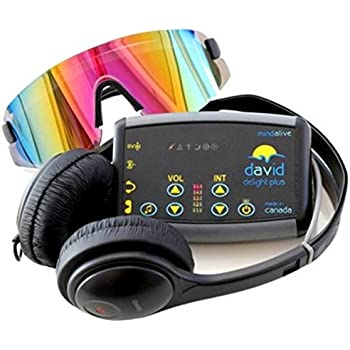 DAVID Delight Plus Light and sound Machine | Best Mind Machine for Brain Training, Meditation, Relaxation, Sleep, Mood, Mental Clarity. Academic and Sports Performance