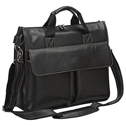- Bellino Leather Briefcase Black