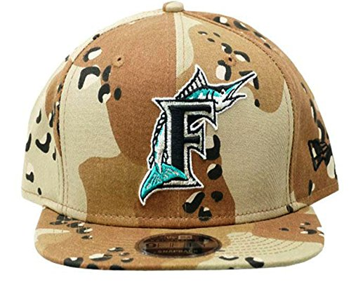 Authentic Florida Marlins Desert Camo Limited Exclusive 9FIFTY Snapback Cap Black - Limited Desert Camo