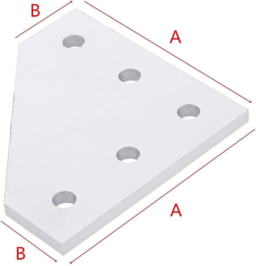 Toolhome Support dangle en aluminium 5 trous 90 degr/és type L pour CNC V-Slot 2020 3030 Aluminium