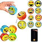 2 X Emoji YoYo Emoticon Light Up Party Favor Classic Toy Children Games Kid Gift